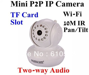 Wanscam P2P Pan/Tilt Wireless WiFi IR Day Night CCTV Network IP Speed dome Camera with Alarm,Audio,TF Card Slot Free Shipping