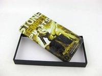 Free shipping Genuine leather wallets unisex Printing purse Fashion creative purse