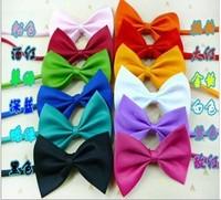Free shipping! Wholesale 100pcs/lot Dog Neck Tie Dog Bright Colors Genteel Bowknot Tie Cat Tie Supplies Pet Headdress