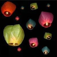 Free Shipping Wishing Lamp SKY CHINESE LANTERNS VALENTINE'S DAY WEDDING PARTY SKY LAMP 30Pcs/Lot  CHINESE KONGMING LATERN