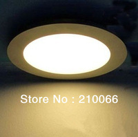 Freeshipping Widely Used 9W Efficient Led Panel Light High Super Bright Warm White/ Cold White Light AC85V-265V Down lighting