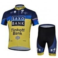 free shipping!2013 SAXO Tinkoff Bank yellow blue cycling clothing of short/Cycling Wear/Cycling Clothing/Bike Jersey