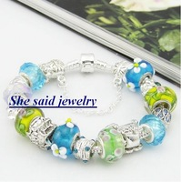 fashion wholesale 925 silver Bracelet,2013 new arrival,free shipping,925 sterling silver beads charm bracelets fine jewelry P70