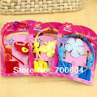 2013 Newest! 24sets/lot Cute Baby Girl Kid's Child Hair Ties Claw Clip Headband set Oranament Accessories, Factory Supply