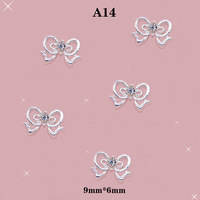 3D Nail Art Alloy Rhinestones Bow Diamond Beads Shining Stickers For DIY Decoration #A14