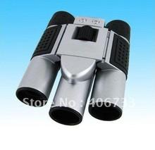 Free Shipping 3Mp max Mini Digital Binocular Camera + PC webcam Camera + Digital Video 4in1 DC-T01(China (Mainland))