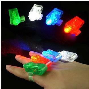 Free shipping finger ring laser color laser light laser dazzle colour LED finger dazzle colour lamp can light