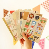 Vintage style masking  photo sticker stationery(12 sheets/piece) (2 pieces/lot)