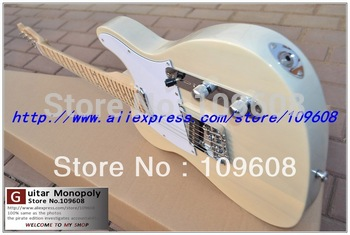 Free shipping ! TELE solid body   Guitars Telecaster white and wood color OEM Electric Guitar in stock