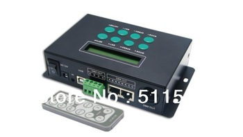 led RGB/DMX Controller with remote ,39 changes modes ,common ,receive 512DMX signal,with time and date function,171 Pixels