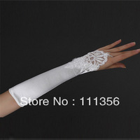 2012 wedding gloves lace long design female white/ivory bridal wedding dress gloves