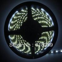 PCB Black 5M IP65 Waterproof Cool White 5050 SMD 300LED Strip Car Light 60leds M