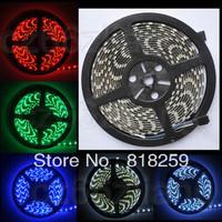 300Leds Waterproof 5050 RGB 5M 60leds M PCB Black IP65 SMD Flexible Strip Lights