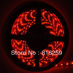 IP65 PCB Black 5M Waterproof Red 5050 SMD 300 LED Strip Car Light 60leds M New