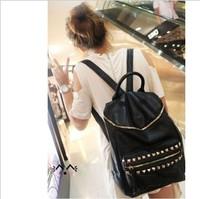 2013 rivet backpack women's handbag fashion casual bag preppy style student bag sports bag