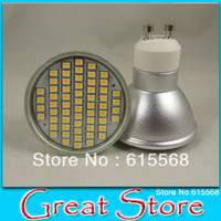 Free Shipping 5pcs/lot LED light GU10 led bulb led light led spotlight 60SMD 3w 240lm  Put in AC 230V