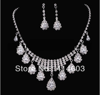 2012 Holiday Sale-Free Shipping Wegirl  Silver Rhinestone Bridal Jewelry sets 3pcs/lot Top wedding Accessories Supplier-2T179