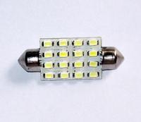 2 x White 39mm 1210 16-LED Festoon Dome LED Light Bulb
