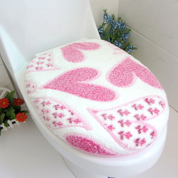 Super soft coral fleece thickening toilet 2 piece set toilet set toilet cover set o ring toilet mat d991(China (Mainland))