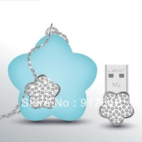 Free Shipping flower necklace jewelry  Style USB Flash Memory Pen Drive 8GB 16GB U  Disk