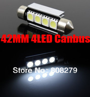 2pcs/Pair Canbus 42mm 4 Led white NUMBER PLATE LIGHT LED BULB 239 C5W Error Free