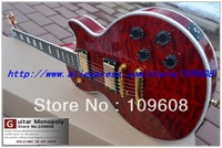 Wholesale - Free Shipping Bloody Romance red wavy top Custom Electric Guitar High Quality Ebony Newest