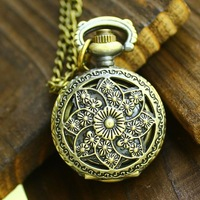 Minimum order 30$ : Vintage small size aeolian bell pocket watch / necklace/jewelry gft accessories R132-12