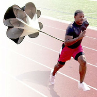 "Free Shipping 1Pcs/Lot 56"" Speed Chute Resistance Parachute Training Umbrella Running Chute"