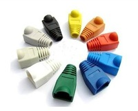 Free shipping 1000pcs/lot RJ45 Network Cable Plug Boots Cap Cat5 Cat6 RJ-45 Protective Sleeve colorful