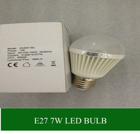 free shipping 1pcs 7W white led bulbs light 480lm energy saving AC 100-240V