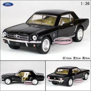 New Ford 1964 Mustang 1:36 Alloy Diecast Model Car Toy collection Black B1858(China (Mainland))