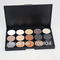 15 color Eyeshadow Palette Nake Eye Shadow Palette 1pcs/lot 2 Desighs Eyeshadow Makeup 1#2#