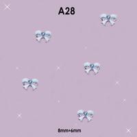 DIY 3D Alloy Rhinestones Jewelry Pink Bow Tie Nail Art Glitter Decorations #A28