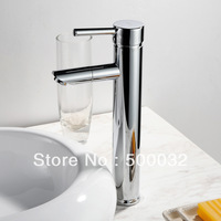 New Brass Bathroom Basin Sink Chrome Swivel Mix Tap Sink Faucet