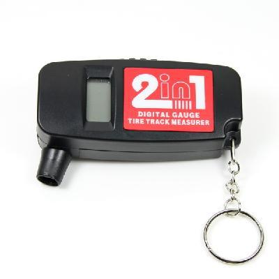 2-in-1 Bar PSI Digital LCD Car Wheel Tire Air Pressure Gauge with Tread Depth Gauge(China (Mainland))