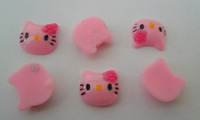 20p Acrylic Pink Hello Kitty 3D Nails Art manicure nail Cute Mobile phone beauty