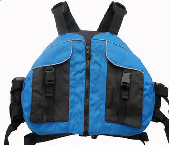 Life jacket pirog inflatable boat thickening life vest blue