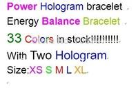 500pcs/lot  PB energy power band bracelet without  wristband