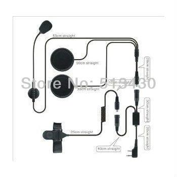 Hands free motorcyle helmet headset with flat microphone (suitable for Kenwood TK series interphone) waterproof, factory price