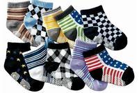 wholesale  Pure cotton children socks/temperament children socks/baby non-slip floor socks long 12-15 cm Mixed 20pair/LOT