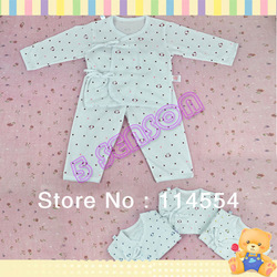Free Shipping Cute Baby Infant Kimono Clothes 0-3 Months Long Sleeve T-Shirt + Pants Set Bay Romper 11169(China (Mainland))