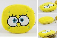Minimum Order 15USD; Sponge BOB Plush Coin Purse & Wallet Pouch Bag Case; Pendant Chain Purse Bag Case Pouch BAG Wallet Handbag