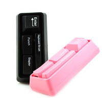 Mini keyboard stationery set stapler punch keyboard brush keyboard stapler