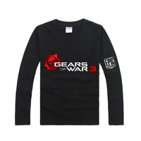 Double series 3 cool logo long-sleeve T-shirt gears of war