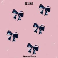 Hot sale Black 3D Alloy Bow Tie Nail style  Art Decoration decoration Size:10*9mm # B189