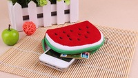 Half Round Watermelon Plush HAND Coin Purse & Wallet Pouch Bag Case ; Pendant Chain Storage Purse Bag Case Pouch BAG Wallet