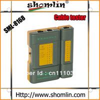 Shomlin LED display utp,stp,telephone line cable tester with rj45,rj11 connect ports