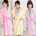 PROMOTION Autumn and winter thickening coral fleece robe sexy sleepwear lounge female bathrobe 100% cotton heart bathrobe