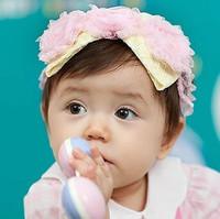 fashion baby headbands Child lace hair band fabric lace flower fd06 kids headwear
