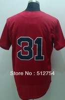 Free Shipping #31 Jon Lester Men's Baseball Jersey,Embroidery and Sewing Logos,size M--3XL,Accpet Mix Order